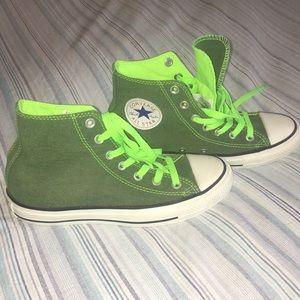 8f271f5cecaf Converse Shoes - NEW RARE Green converse high tops